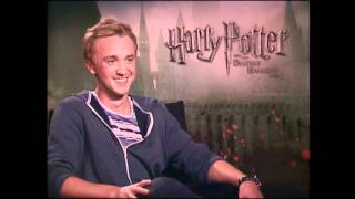 Unlike the character he plays this nice guy talks about playing draco and saying goodbye to harry.