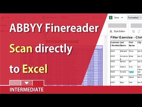Scan Documents Into Excel With ABBYY Finereader By Chris Menard