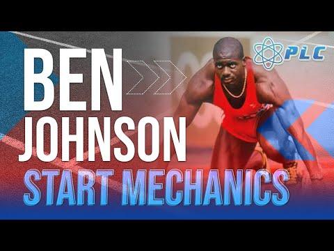 Ben Johnson Start Mechanics Slow Motion