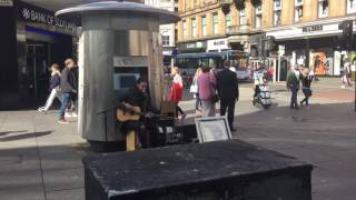 Sam Smith - Stay with me - Glasgow Busking - Ben Monteith - busking cover
