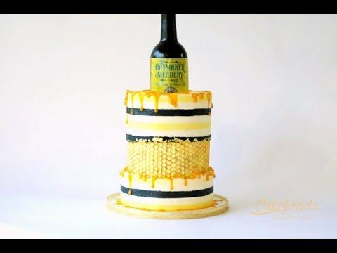 Fault line AND Buttercream Stripes Honey Cake Tutorial!
