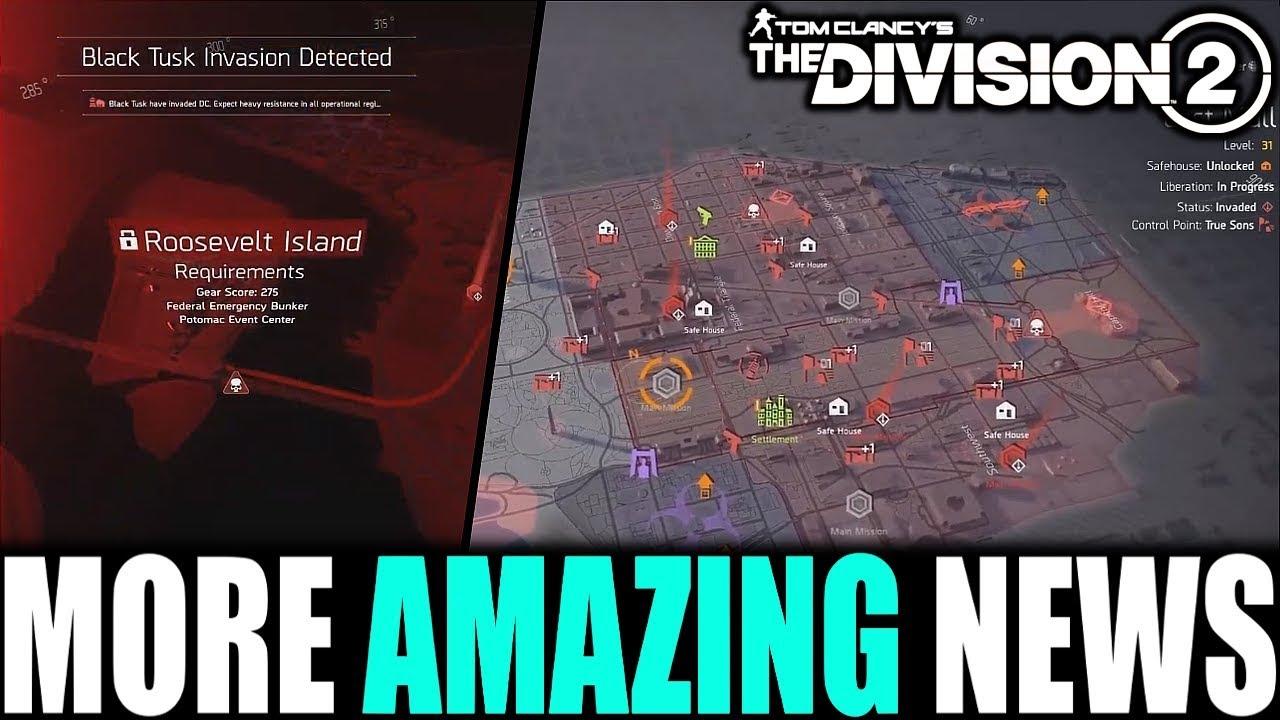 The Division 2 AMAZING NEWS! SECRET VENDOR, STRONGHOLDS, NAMED BOSSES &  MORE!