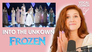 Into the Unknown I Frozen I Vocal coach reacts