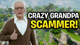 Crazy Grandpa Scammer Scams Himself! (Scammer Get Scammed) Fortnite Save The World