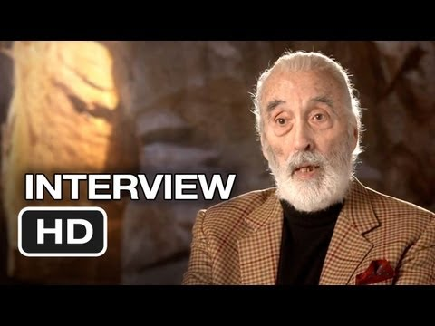 The Hobbit: An Unexpected Journey - Christopher Lee Interview - Saruman (2012) HD