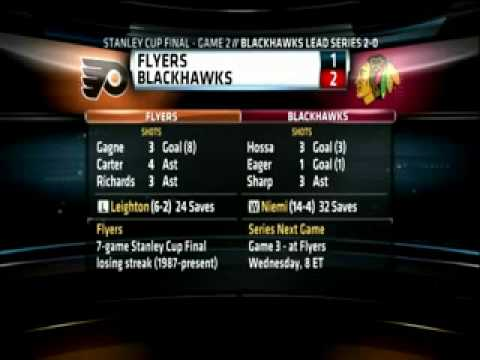 Philadelphia Flyers vs. Chicago Blackhawks - Game 2 Playoffs 2009 - 2010