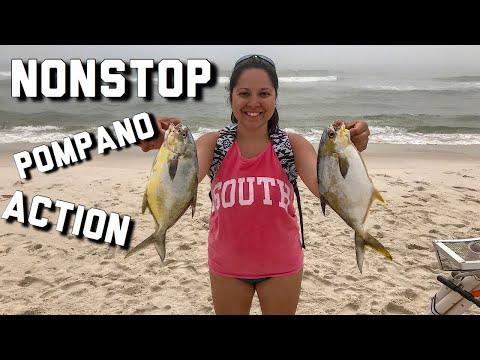 Epic Day Pompano Fishing In Gulf Shores Alabama