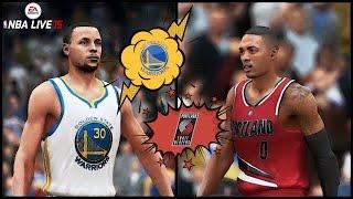 NBA Live 15 (Xbox One): Blazers vs Warriors Gameplay