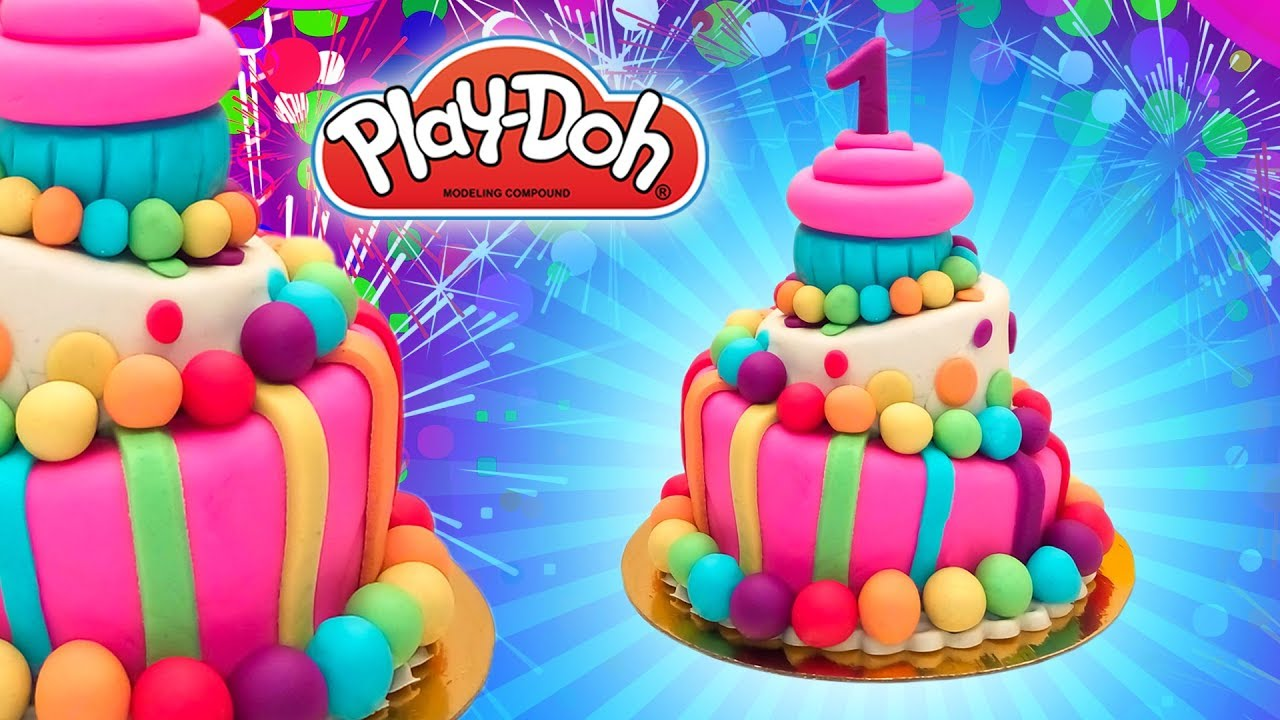 Dolls Food First Year Birthday Cake Play Doh Diy For Kids Learn