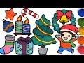 Christmas tree Ornaments, Belajar Menggambar dan Mewarnai untuk Anak | Clay coloring and Drawing