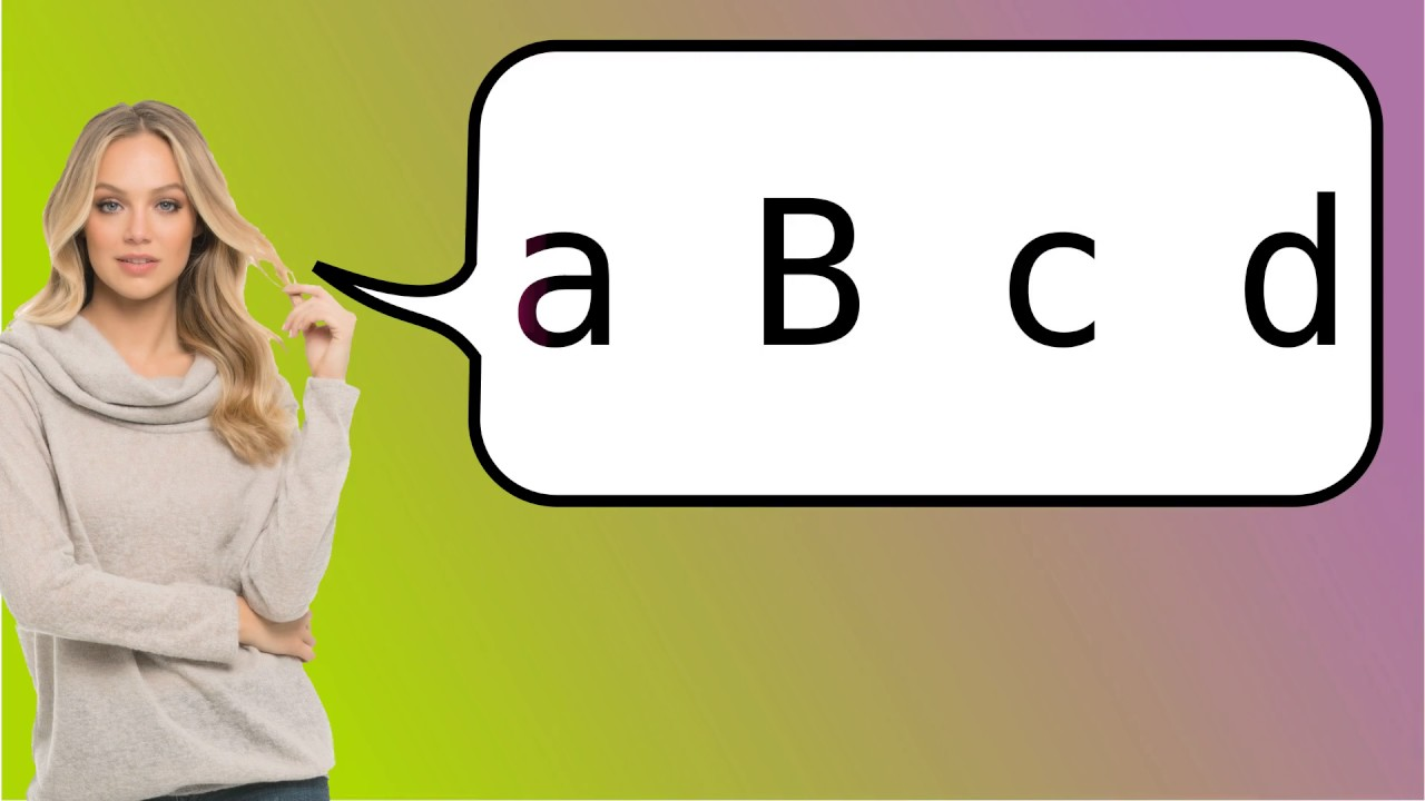 How to say abcd in French?