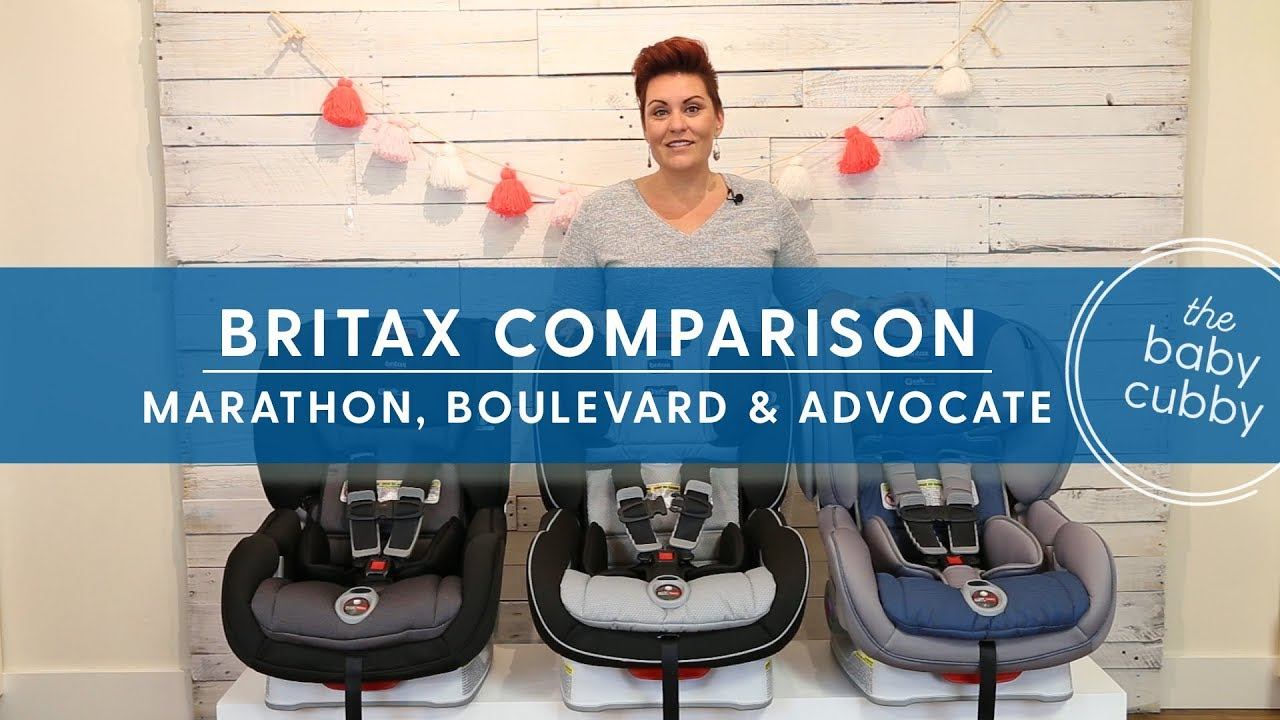 Comparison Between Britax Click Car Seats Marathon Boulevard Advocate