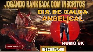FREE FIRE - AO VIVO NOVO EVENTO CALÇA ANGELICAL 🔥UPANDO INSCRITO PARA MESTRE