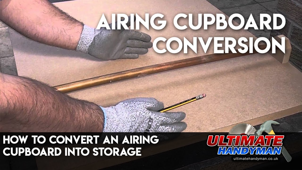 How To Convert An Airing Cupboard Into Storage Youtube