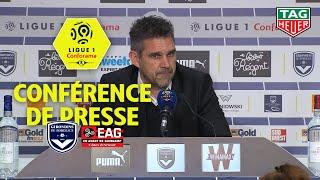 Conférence de presse Girondins de Bordeaux - EA Guingamp (0-0) / 2018-19