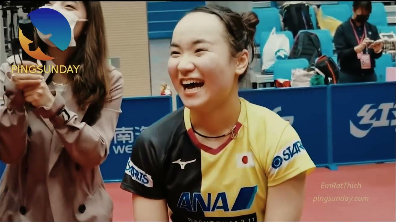 funny conversation between Mima Ito and coach Ma Lin