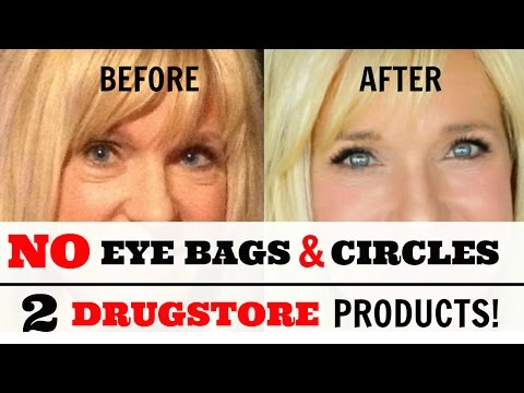 Remove Under Eye Bags Circles With 2 Drugstore Products Youtube