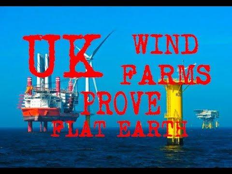UK FLAT EARTH PROOF  Conwy Gwynt y Môr wind farms PROVE