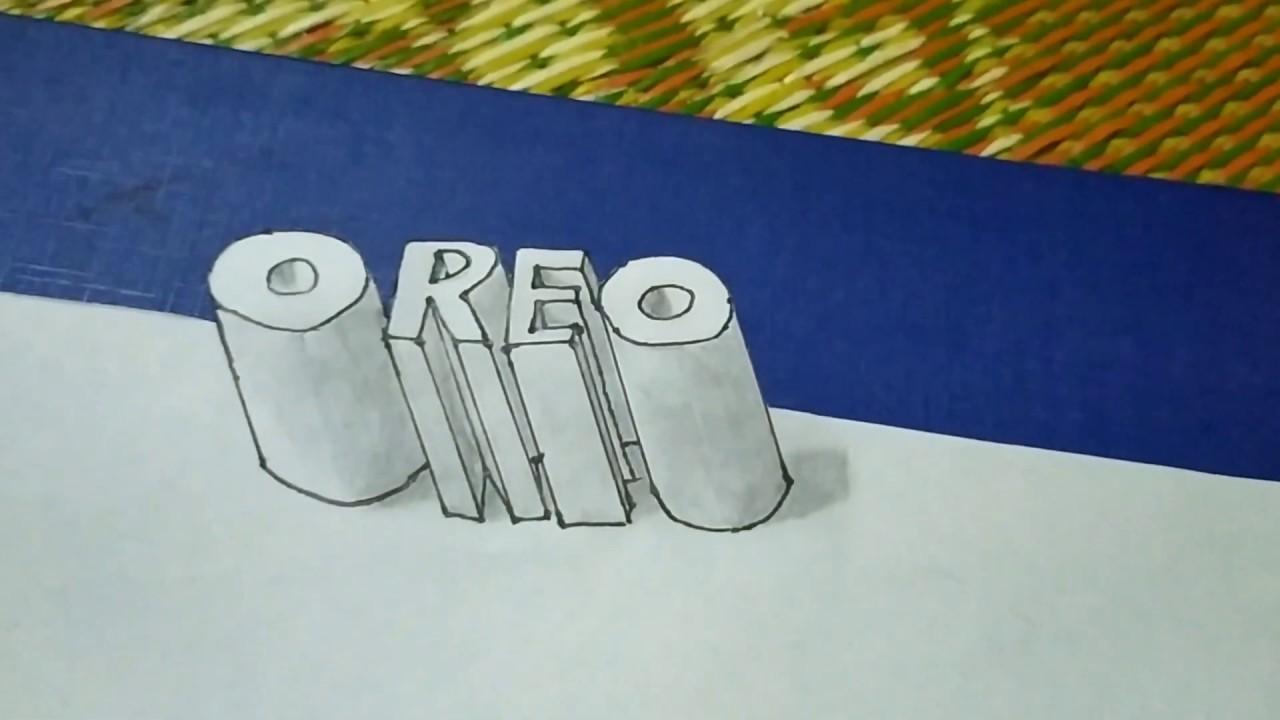 Draw 3d Oreo| vẽ 3d chữ Oreo