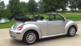HD VIDEO 2006 VOLKSWAGEN NEW BEETLE BUG CONVERTIBLE USED FOR SALE SEE WWW SUNSETMOTORS COM