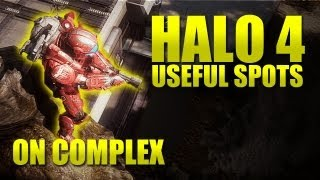 Halo 4 - awesome set of hiding / sniping spots on Complex!