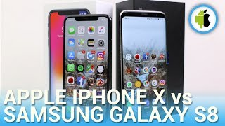 iPhone X vs Samsung Galaxy S8, confronto in italiano