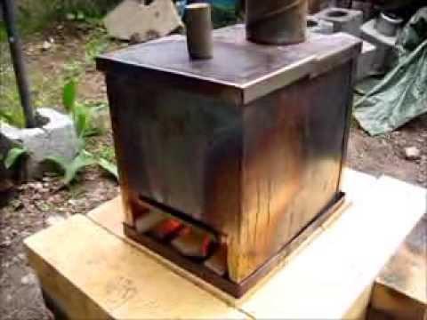 Rocket stove ideas 11 horizontal cook doovi for Decorative rocket stove