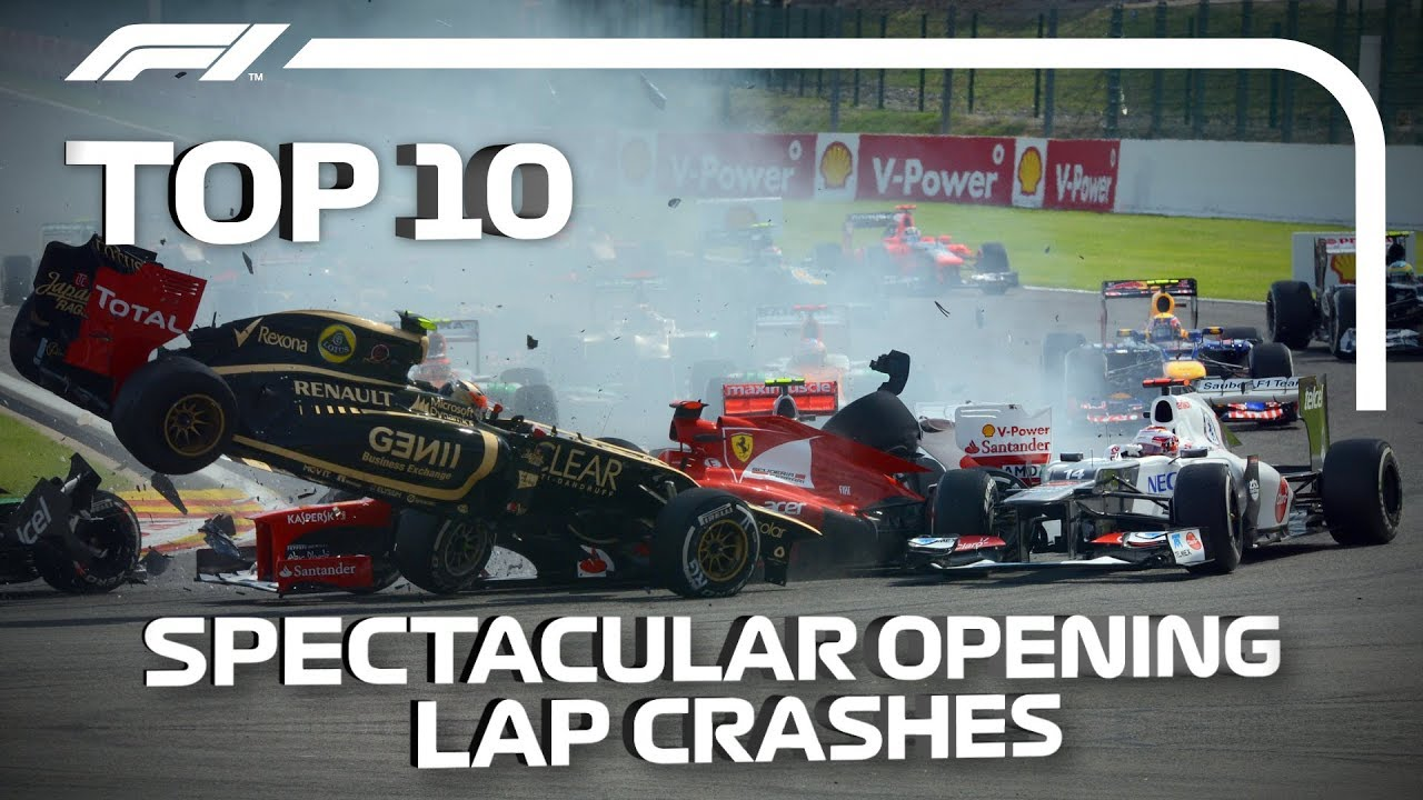 Download Top 10 Spectacular Opening Lap Crashes in F1
