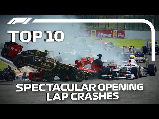 Top 10 Spectacular Opening Lap Crashes in F1