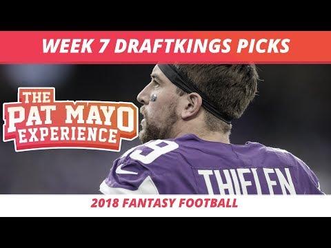 2018 Fantasy Football — Week 7 DraftKings Picks, Preview, Sleepers