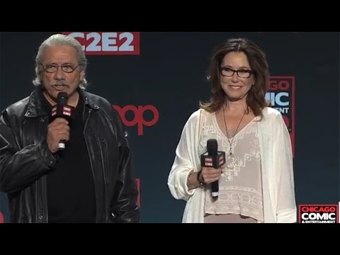 C2E2  Mary McDonnell and Edward James Olmos Battlestar Galactica Panel