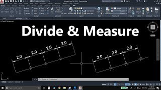 AutoCAD Divide & Measure Command In Hindi - With All Options - AutoCAD 2020