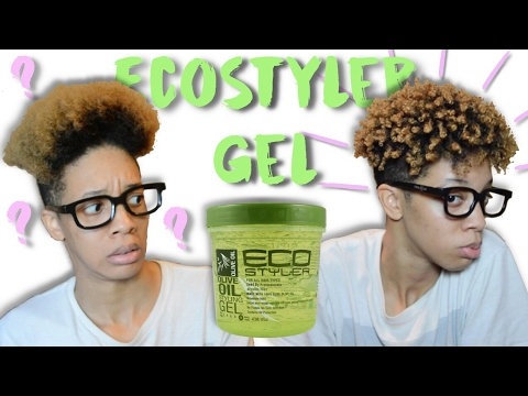 Styling With Eco Styler Gel Short Natural Hair Youtube