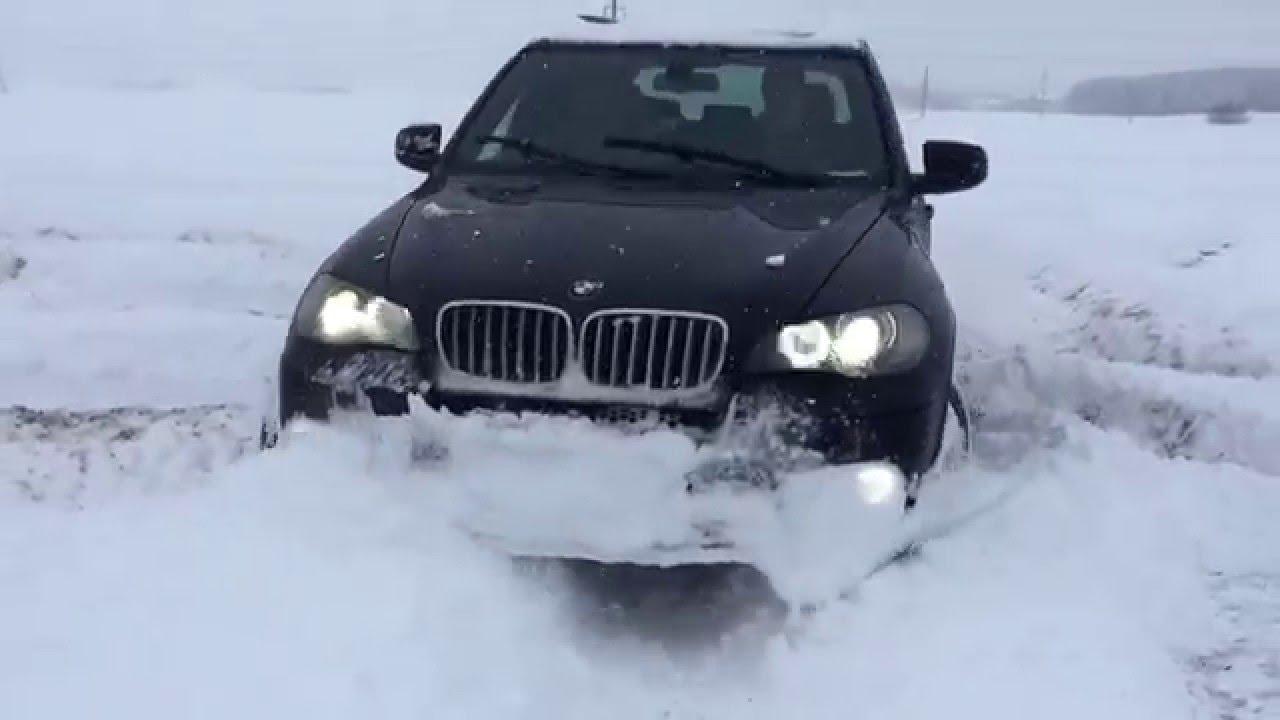 Bmw X5 E70 Snow Test Youtube
