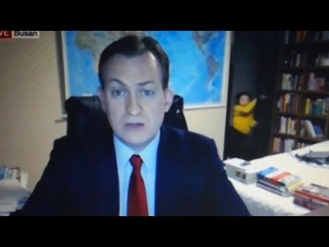 Children crash a live TV interview