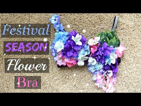 DIY Spring & Summer Festival/Rave Season Flower Bra