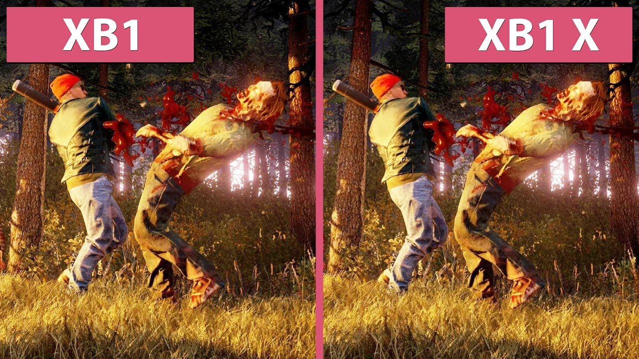 [4K] State of Decay 2 – Xbox One vs  Xbox One X Graphics Comparison