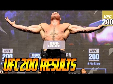 UFC 200 Results , Brock Lesnar Beats Mark...