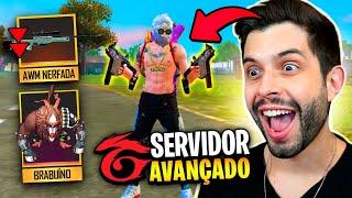 LANÇOU ARMA DUPLA!! ADEUS AWP E BARRET!! SERVIDOR AVANÇADO DO FREE FIRE