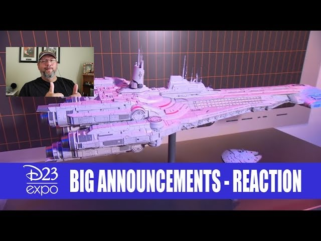 D23 Announcements - Epcot - Avengers - Star Wars Hotel - Tron - Reaction Video