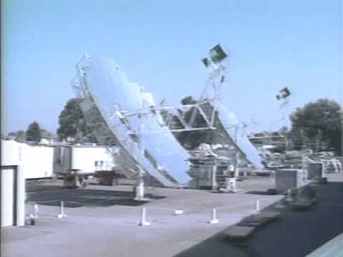 Stirling dish solar tracking time lapse