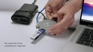 Dell Mobilní adaptér USB-C – DA310 470-AEUP DELL-DA310