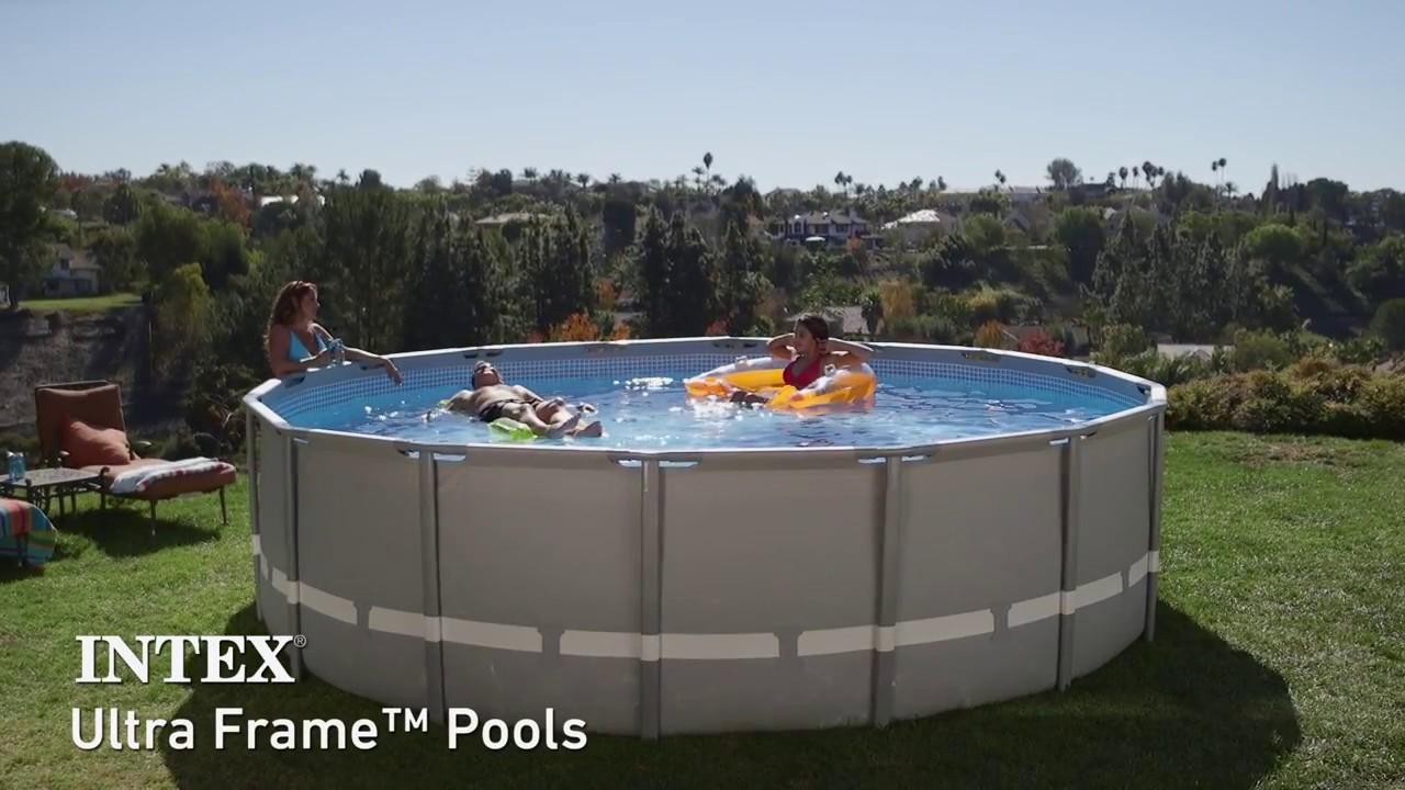 piscina desmontable intex ultra frame youtube. Black Bedroom Furniture Sets. Home Design Ideas
