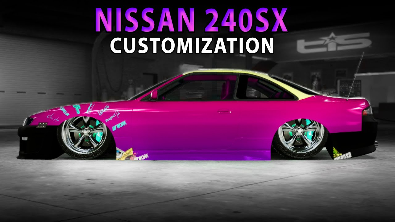 Midnight Club LA Nissan 240SX Customization YouTube