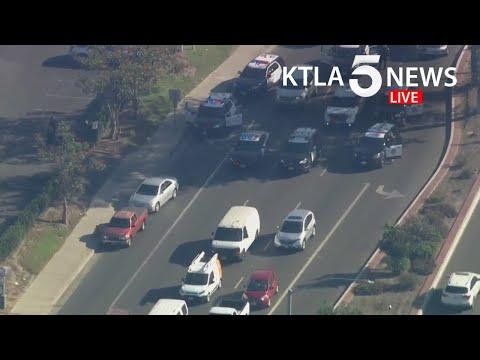 Stolen vehicle suspect taken into custody after police pursuit in Orange County, California
