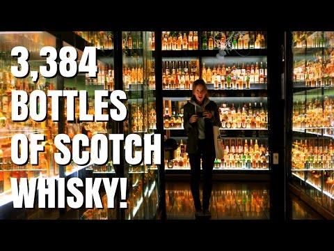 Drinking Scotch Whisky in Edinburgh, Scotland