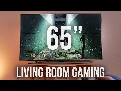 INSANE Gaming on 65-inch 4K TV!!!
