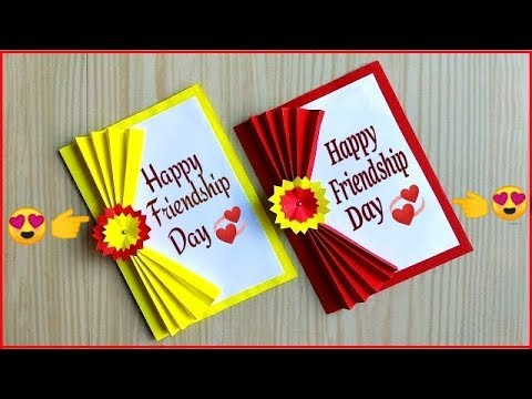Easy and beautiful card for friendship day / How to make friendship day card easy
