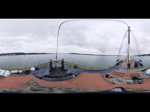 360 Video - Barge ride from Pin Mill to Ipswich Docs on the Melissa