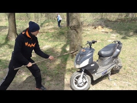 Как снять пластик на скутере